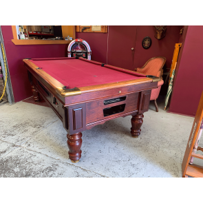 Ex-Hotel 7Ft Electronic Coin Op Slate Pool Table With Accessories