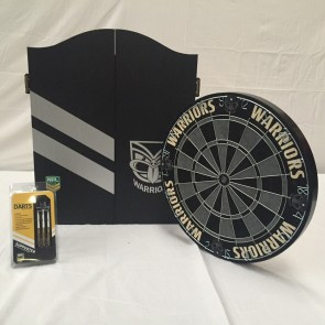NRL Licensed DARTBOARD PACK - New Zealand WARRIORS New Design 2015