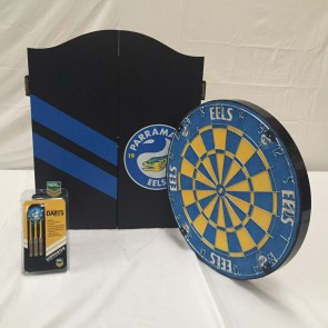 NRL Licensed DARTBOARD PACK - Parramatta EELS New Design 2015