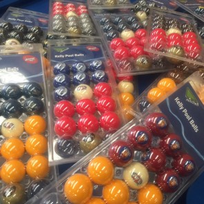 AFL Licensed POOL BALLS - 16 Pack $169 Each - TEAM COLOUR