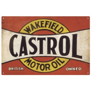 Australian Cars & Transport - Castrol Red Rusted - Tin Sign