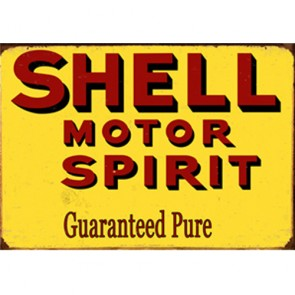 Australian Cars & Transport - Shell Motor Spirit Vintage - Tin Sign