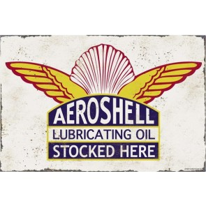 Australian Cars & Transport - Shell Aeroshell - Vintage Tin Sign