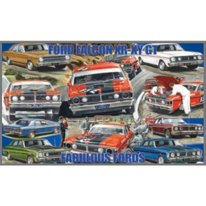 Australian Cars & Transport Ford Falcon XR-XY GT HO Montage Tin Sign