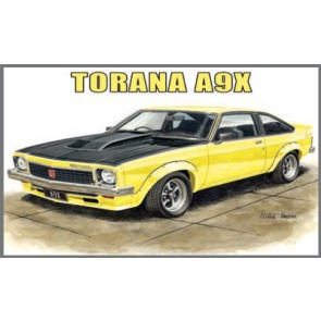 Australian Cars & Transport Torana A9X 2 Door Hatch Tin Sign