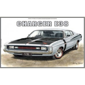 Australian Cars & Transport Chrysler Charger E38 Tin Sign