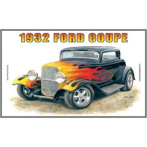 Australian Cars & Transport 1932 Ford Coupe Hot Rod Tin Sign