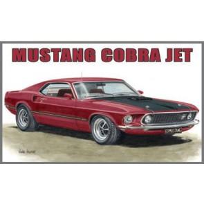 Australian Cars & Transport 1969 Mustang Cobra Jet Tin Sign