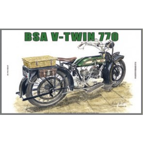 Australian Cars & Transport BSA V Twin 770 1921 Tin Sign