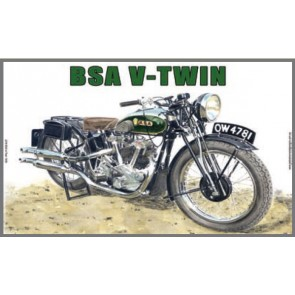 Australian Cars & Transport BSA V Twin 1935 Tin Sign