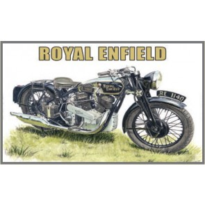 Australian Cars & Transport Royal Enfield KX Delux 1937 Tin Sign