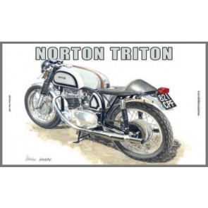 Australian Cars & Transport Norton Triton 1957 Tin Sign