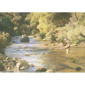 Australian Heritage Series Fly Fisherman Tin Sign