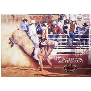 Australian Heritage Series Thomas Cook Rodeo Bull Rider Tin Sign