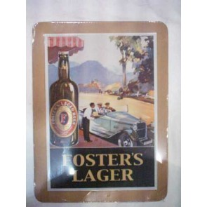 Foster's Lager Old Roaster Vintage Tin Sign