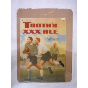 Tooth's XXX Ale Rugby Vintage Tin Sign