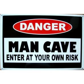 Danger Man Cave Tin Sign