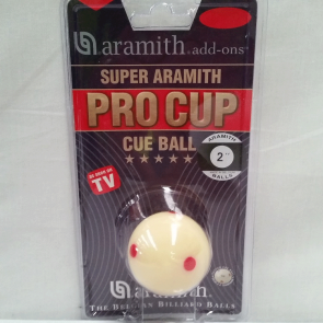 "Aramith CUE BALL 2"" - MEASLE"