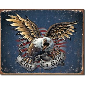 Live To Ride - Eagle - Tin Sign