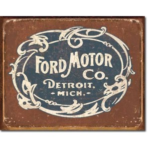 Ford Historic Logo Tin Sign
