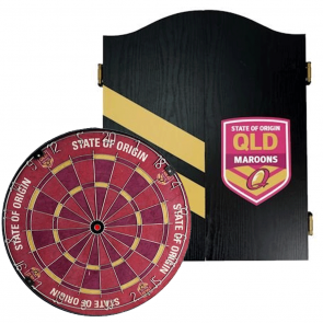 NRL Licensed DARTBOARD PACK - State of Origin - Queensland QLD Maroons