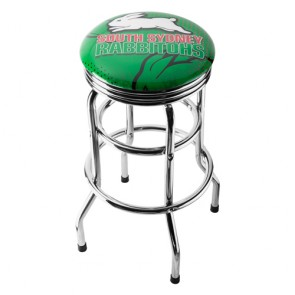 NRL Double Ring BAR STOOL - South Sydney RABBITOHS