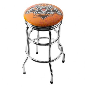 NRL Double Ring BAR STOOL - Wests TIGERS