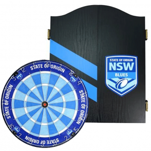 NRL Licensed DARTBOARD PACK - State of Origin - New South Wales NSW Blues
