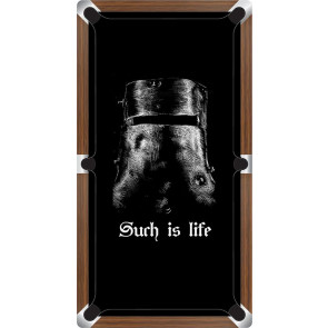 Graphic Digitally Printed Outlaw Ned Kelly Helmet Such Is Life 7ft Pool Table Cloth