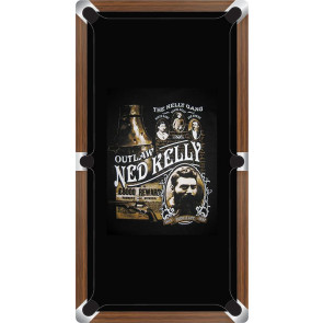 Graphic Digitally Printed Outlaw Kelly Gang Ned Kelly 8ft Pool Table Cloth