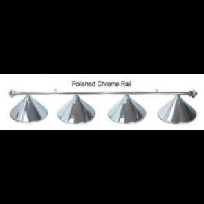 Metal POLISHED CHROME Pool Snooker Billiards Table LIGHT - 4 x Light Hats