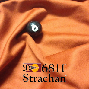 STRACHAN 6811 English Pool Snooker Billiards CLOTH 7ft x 3.6ft - PAPRIKA