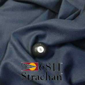 STRACHAN 6811 English Pool Snooker Billiards CLOTH 8ft x 4ft - NAVY BLUE