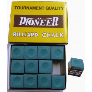 Pioneer Pool Snooker Billiards CUE CHALK - 12 Pieces - GREEN