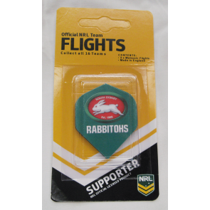 NRL Licensed DART FLIGHTS x 3 - South Sydney RABBITOHS