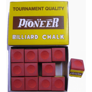 Pioneer Pool Snooker Billiards CUE CHALK - 12 Pieces - RED