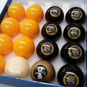 AFL Licensed POOL BALLS - 16 Pack - Richmond TIGERS