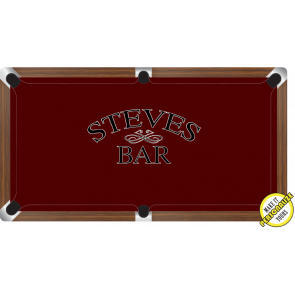 Graphic Digitally Printed Personalisable Standard Bar 7ft Pool Table Cloth