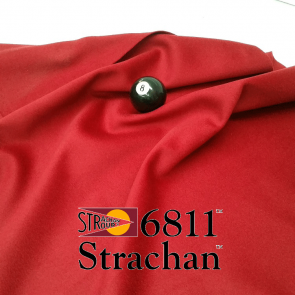 STRACHAN 6811 English Pool Snooker Billiards CLOTH 7ft x 3.6ft - BURGUNDY