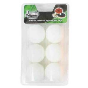1 Star White Table Tennis BALLS 6 Pack
