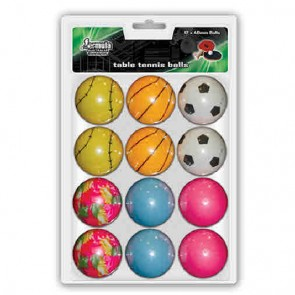 Novelty TABLE TENNIS BALLS Pack of 12