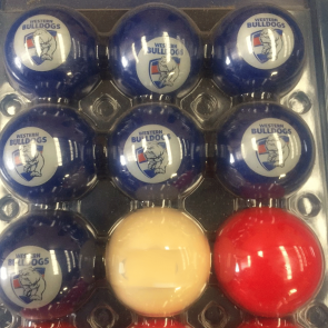 AFL Licensed POOL BALLS - 16 Pack - Western BULLDOGS